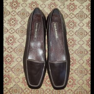 Enzo Angiolini 7.5N Liberty Brown Leather Loafers